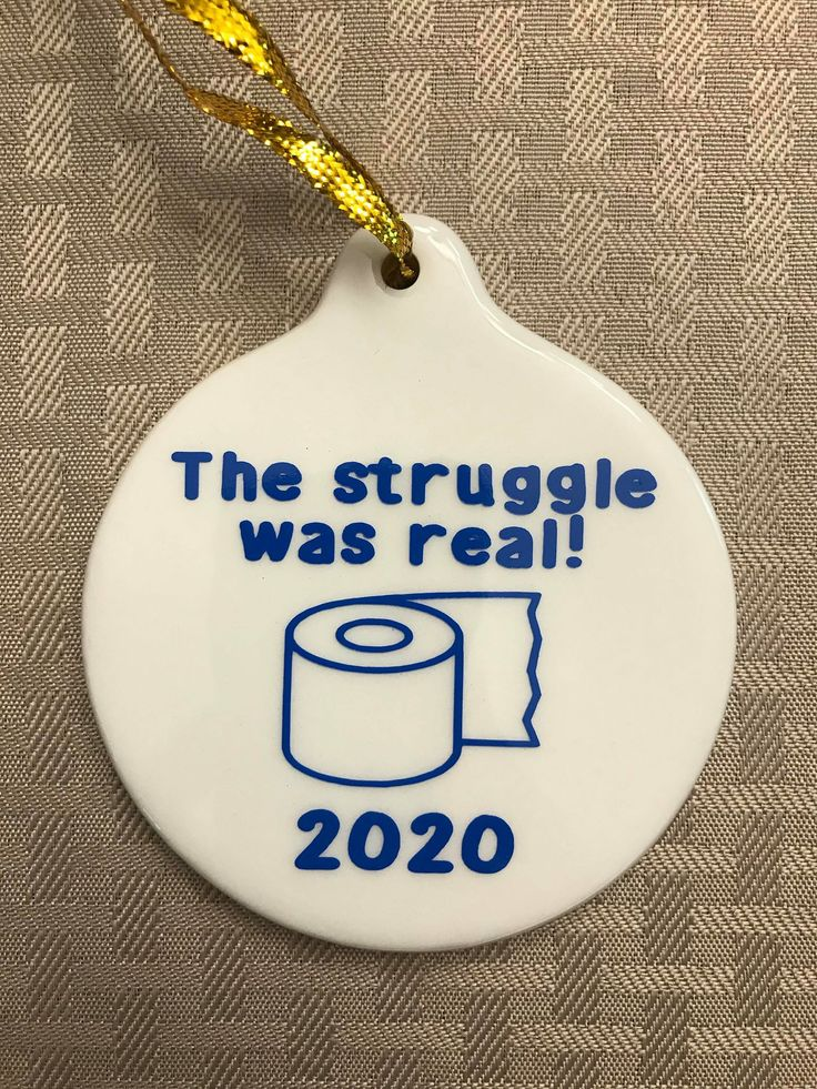 Toilet Paper Struggle 2020 Christmas Ornament in 2020
