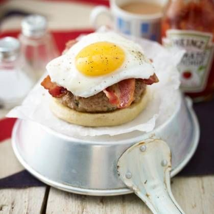All your favourite breakfast flavours rolled into one juicy burger.