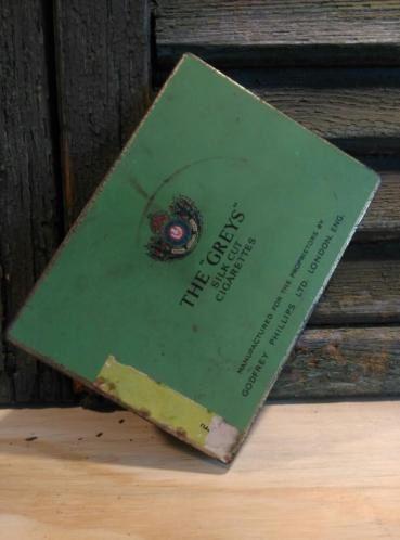 Oud Brocante Antiek Sigarenblik The Greys Londen