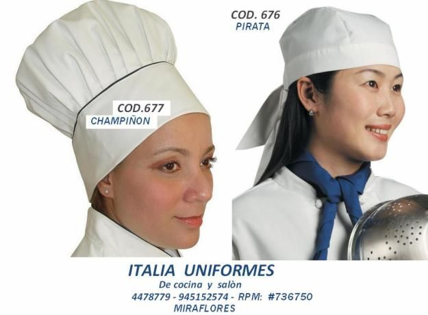 UNIFORMES DE CHEF:             ITALIA  COLLECTION                                        ...