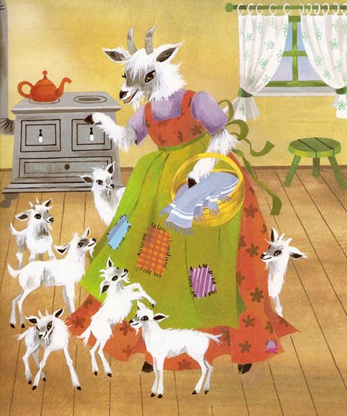 """""""The Wolf and the Seven Young Kids"""" illustrated by Felicitas Kuhn"""