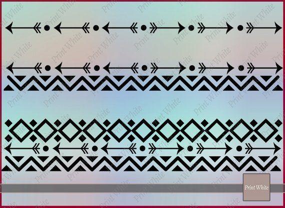 Tribal Border Svg Border Dxf Chevron Border Svg Aztec Svg Borders Arrow Border Boho Clipart Digital Scrapbooking Border Clip Art Bundle Png Clip Art Borders Art Bundle Clip Art