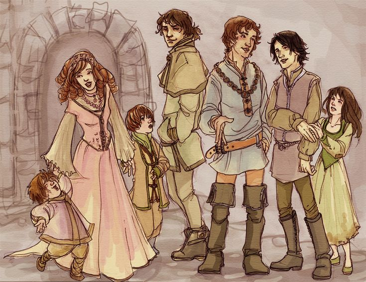 The Stark kids from a Song of Ice and Fire. I love the personality that this artist gets through.