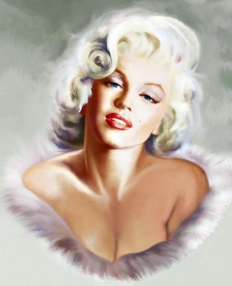 Marilyn art ~~ For more: - ✯ http://www.pinterest.com/PinFantasy/gente-~-marilyn-monroe-art/