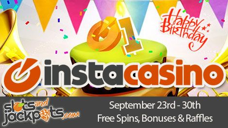 InstaCasino celebrate one years as a Casino. During InstaCasino Birthday Party you can enjoy lots of free spins, bonuses and other promotions!  Read more!  http://www.slotsandjackpots.com/en/news/instacasino-birthday-party/  #birthday #party #instacasino #raffle #lottery #free #spins #win #casino #bonus #slot #freespins #onlinecasino #casinobonus #spin #play #competition #giveaways