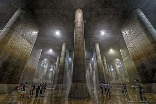 Underground flood control project (G-CANS), Japan
