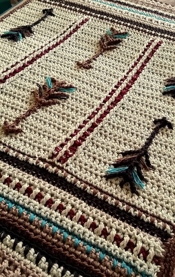 Native American Inspired Crochet Lap Afghan or Baby by GSMDsigns