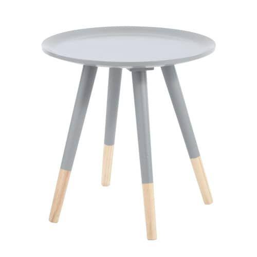 Tavolo basso vintage grigio in legno L 40 cm