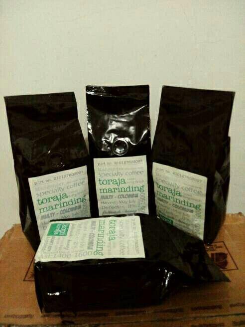 Toraja Marinding Arabica Coffee @ 250 gram roasted bean. Indonesia Speciality Coffee.