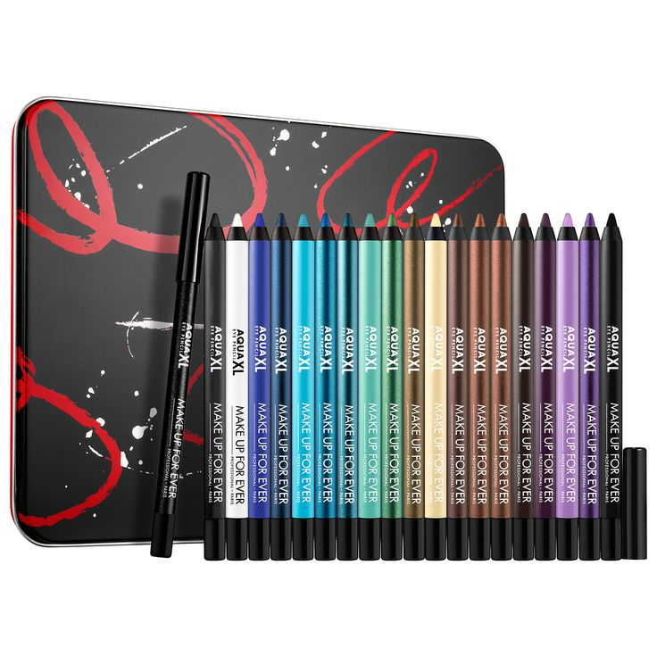 Shop MAKE UP FOR EVER's Artistic Aqua XL Eye Pencil Collection at Sephora. It includes 12 long-wearing, waterproof eye pencils with intense color.