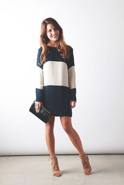 cute!  less fattening stripes/color blocking