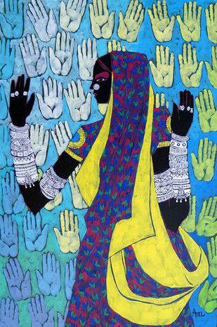 Serene Harmony 21 - Painting by Anuradha Thakur
