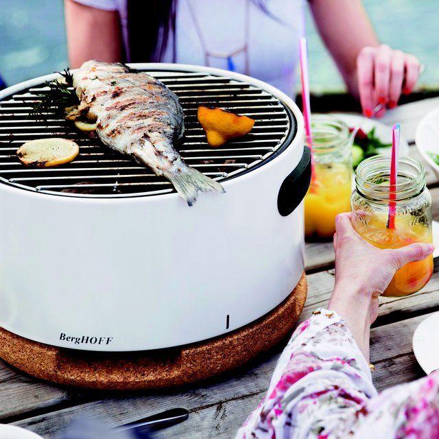 White Tabletop Bbq In 2020 Barbecue Design Portable Barbecue