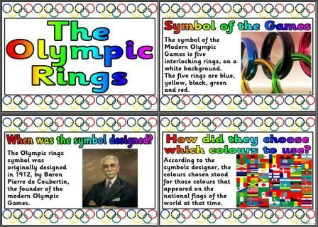 Olympic Games Rio 2016 Teaching Resources. Free set of posters that explain about the origins and meaning of the Olympic Rings symbol.