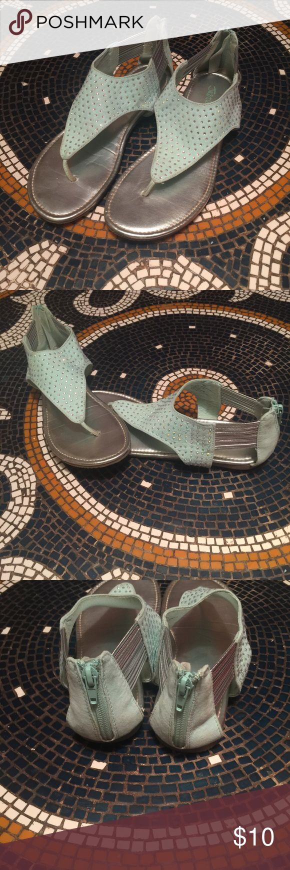 Womens sandals that zip up the back - Tiffany Blue Sandals Very Good Used Condition Women S Size 8 From Justice Have A