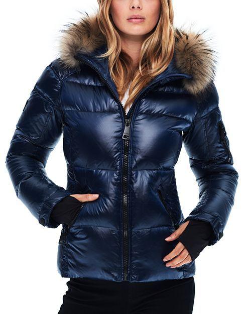 1436b496f2d6 Blake Fur-Trim Down Coat in 2019 | Down jacket | Down coat, Jackets ...