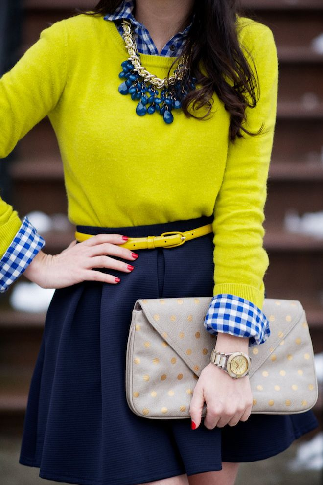 navy + chartreuse