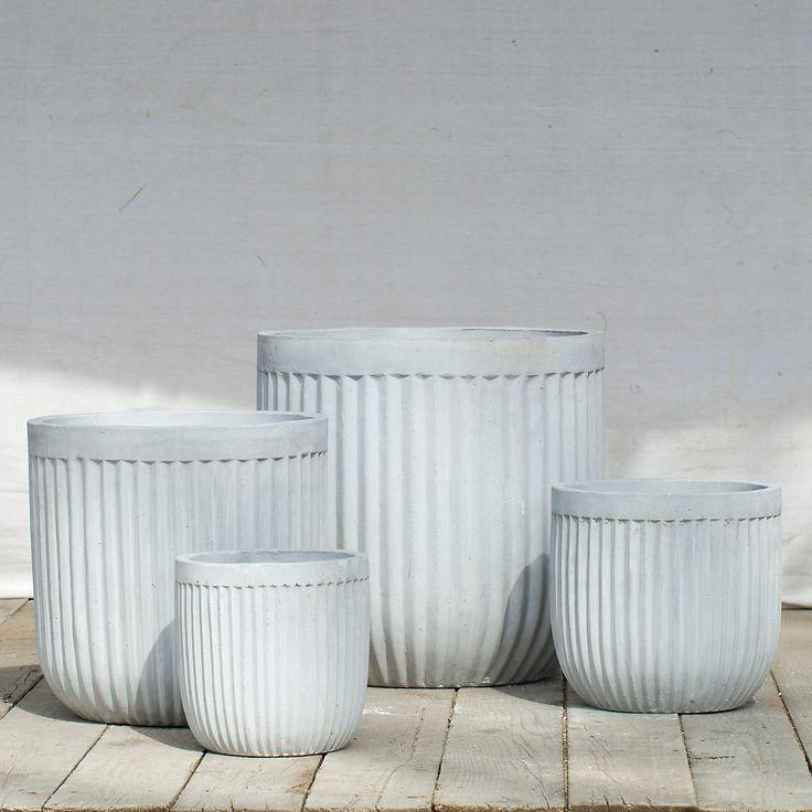 Terrain Fiberclay Barrel Pot #shopterrain