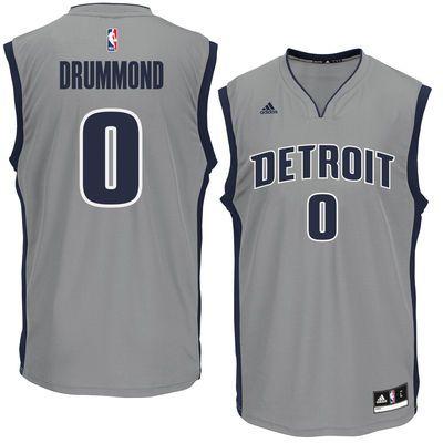 Andre Drummond Detroit Pistons adidas Replica Basketball Jersey - Gray