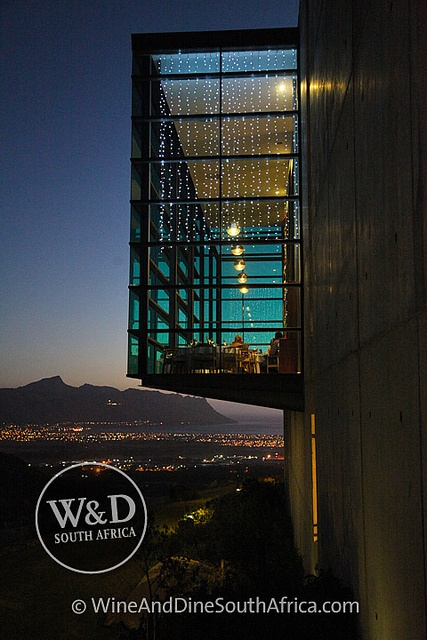 Restaurant at Waterkloof Wine Estate by night  #wine #winelands #southafrica