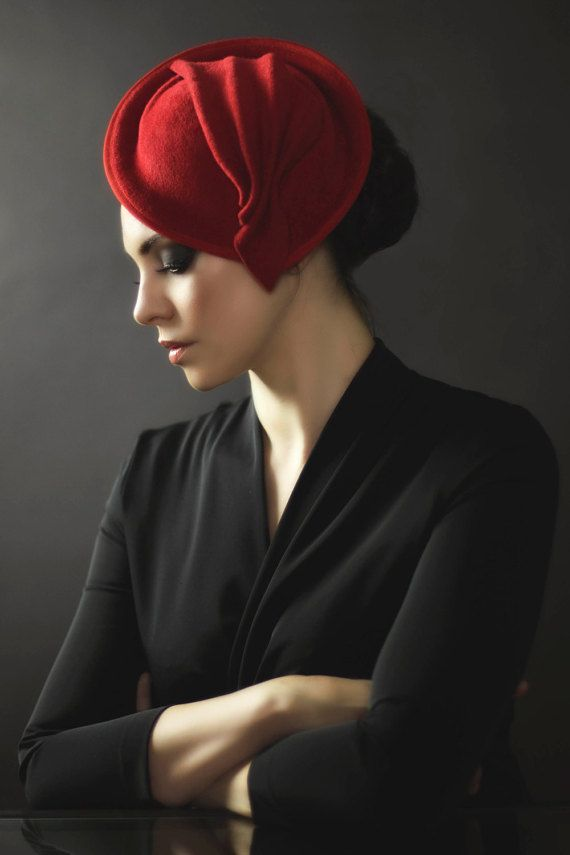 Felt Cocktail Hat, Saucer Hat, Womens Designer Percher Hat - Jasmine