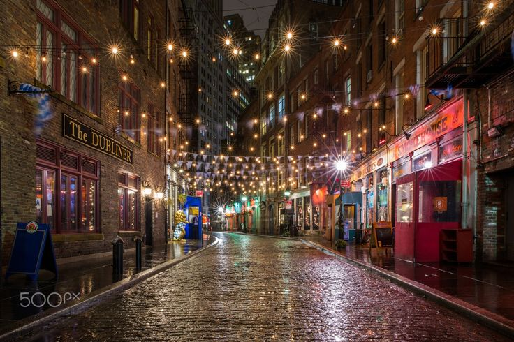 Stone Street on a Rainy Night - On a rainy night, Stone Street with it's reflections on the old cobblestones is one of my favorite places to visit.