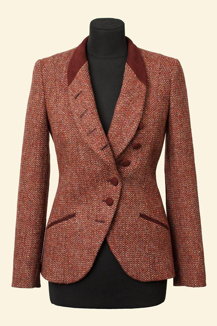 Red Barleycorn Harris Tweed Emma Jacket Walker Slater Tweed Specialists