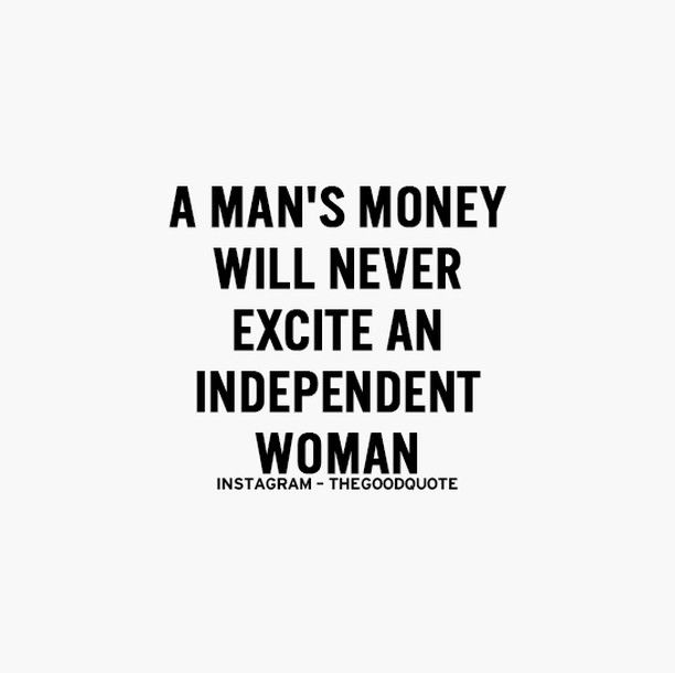 Money shouldn't excite ANYONE about another human being. LOVE should be the only motivation.