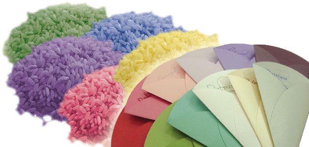 RISO COLORATO che non macchia,  da oggi abbiamo disponibile per i vostri speciali eventi pacchettini di riso colorato (non commestibile) che non macchia i vestiti. Nelle tonalità: verde mela, verde Tiffany, giallo, rosa fucsia, lilla, bianco/nero, rosso. www.gscopy.net