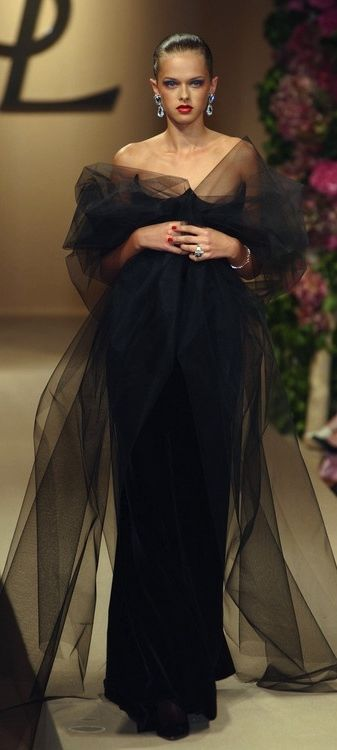 Yves Saint Laurent black evening gown