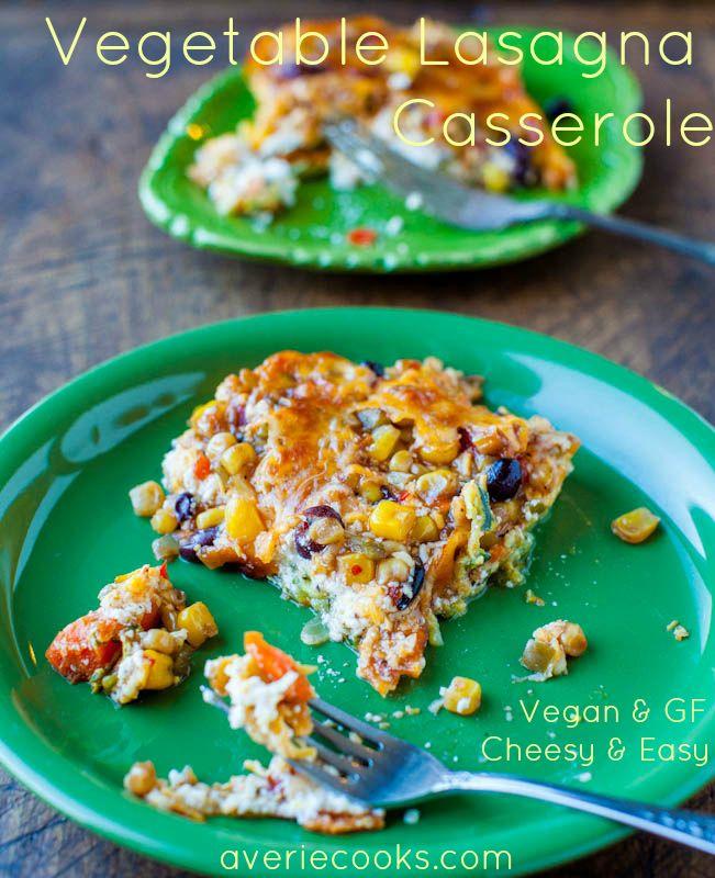 Lightened Up Vegetable Lasagna Casserole - Averie Cooks