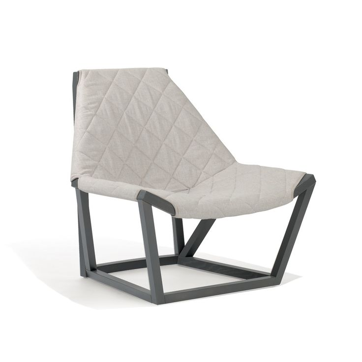 Tenso Upholstered Lounge Armchair Frame: Oak Upholstery: Fabric By Mauro  Lipparini