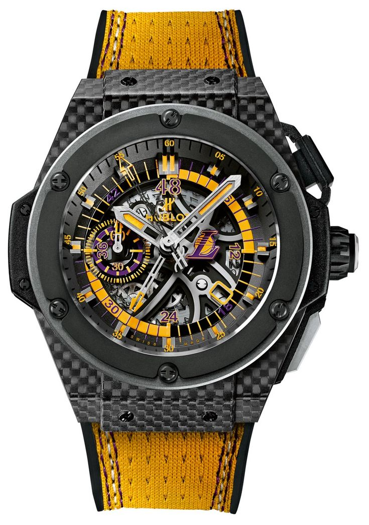 """Hublot King Power LA Lakers Watch - You knew this one was coming, and we know many have been waiting for it: """"In 2013, Hublot announced a new partnership with the Los Angeles Lakers basketball team as their official timekeeper and presumably watchmaking partner... For 2014, Hublot now releases a watch exclusively for the team with the Hublot King Power Los Angeles Lakers timepiece..."""""""