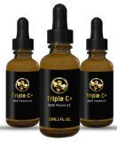 BEST TRIPLE ACTION VITAMIN C + E FACIAL SERUM 1 oz. - EXTREMELY POTENT ANTI AGING SKIN CARE - 3 Vit. C FOR THE BEST RESULTS: Anti Wrinkle - Anti Oxidant - Strengthens Collagen - UV protection - Skin Lightening - Smoothes Skin - Anti Inflammatory - and