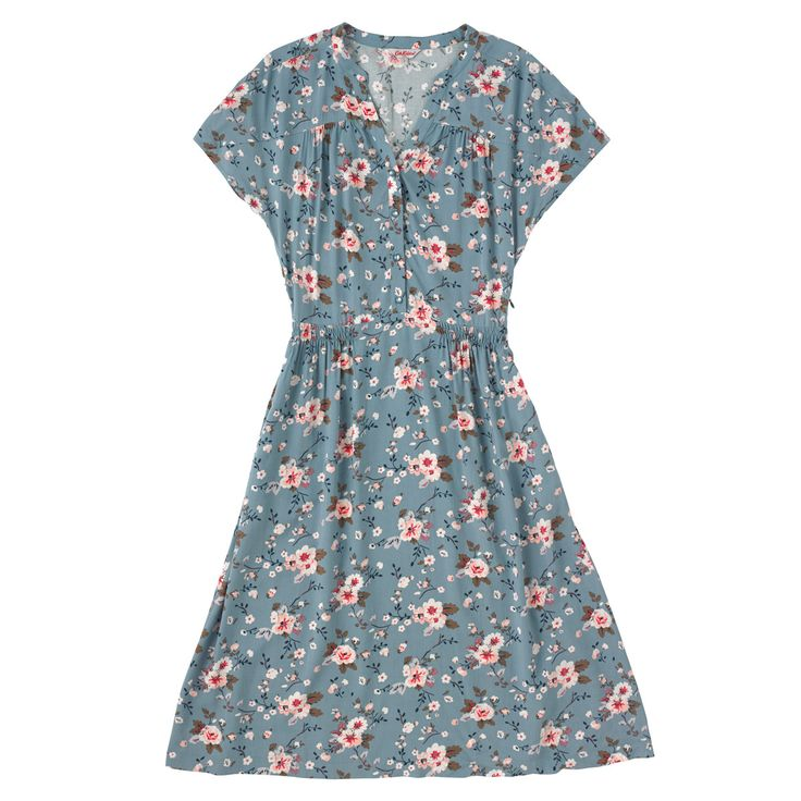 Button Front Viscose Dress  | Cath Kidston |