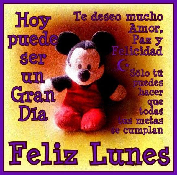 Tarjeta bonita de feliz lunes #Positivo #Animo #Felicidad