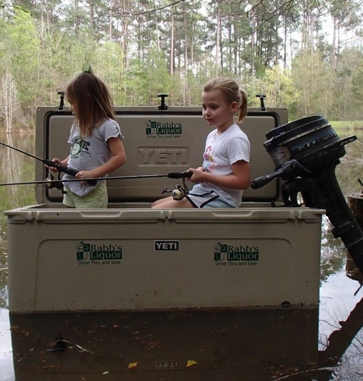 Never thought of using a YETI cooler as a fishing boat..haha!