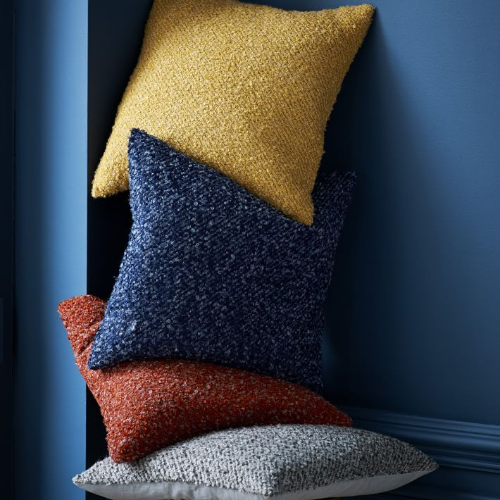 Who Makes West Elm Furniture Add A Dose Of Cozychic To Your Couch With Our Heathered Boucle Pillow Cover Its Soft Textured Fabric Is Nod Fashion Fabrics Who Makes West Elm Furniture