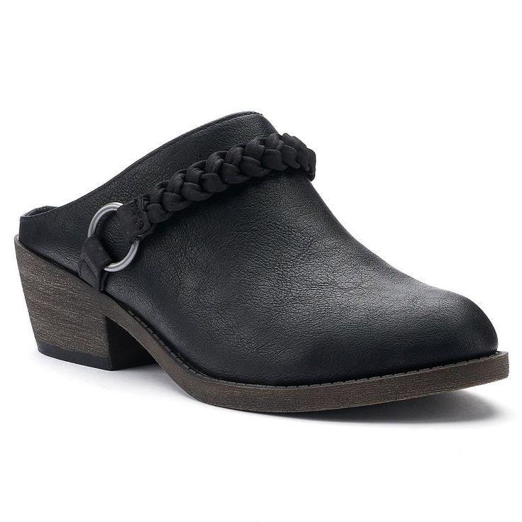 SO® Literally Women's Heeled Clogs, Size: medium (6.5), Oxford