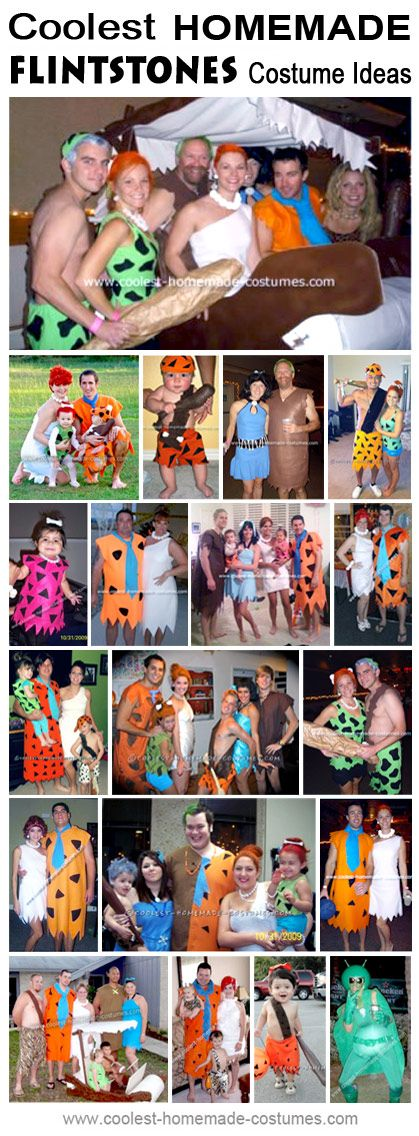 Homemade Flintstone Costume Collection - Coolest Halloween Costume Contest