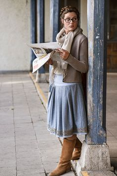 Dirndl style for everyday - fall. Great inspiration.