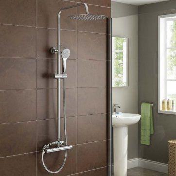 300mm Round Head & Hand Held - Cool to Touch Shower - Slimline [PT-SS8009] - £116.99 : Platinum Taps & Bathrooms
