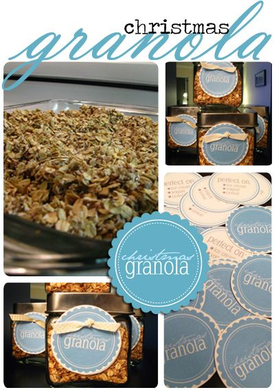 Homemade Granola with Free Printables-Great idea for hostess gifts next Christmas