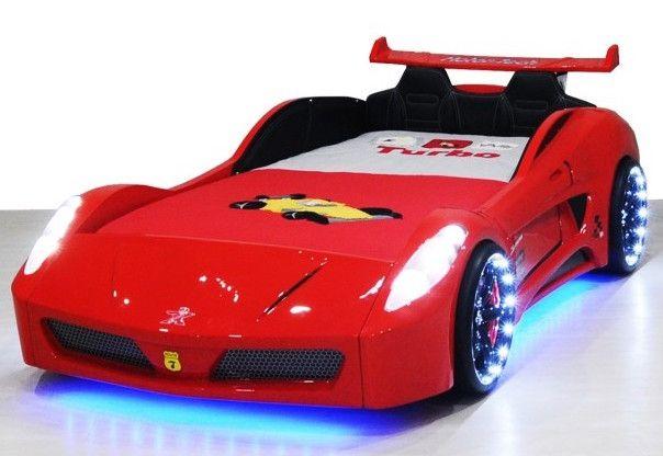 lit voiture turbo v7 rouge a led