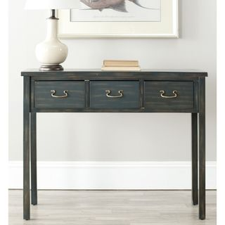 $175 Safavieh Cindy Navy Console Table | Overstock.com Shopping - Great Deals on Safavieh Coffee, Sofa & End Tables