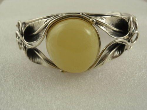 Obecnie na aukcjach #Catawiki: Sterling Silver & Baltic Amber Bracelet 37,3 gr.