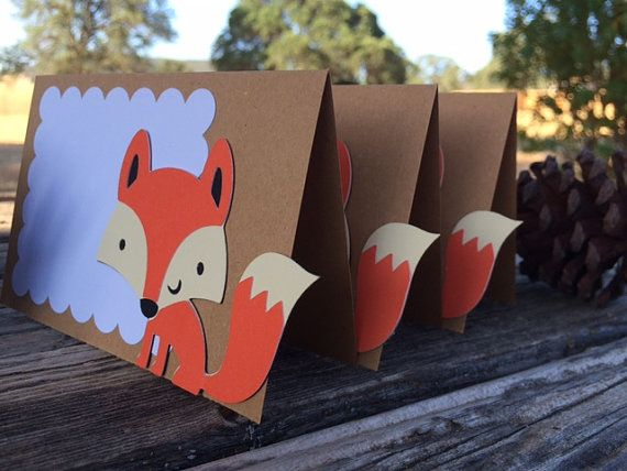 Woodland Party Fox Food Labels  Tent Labels Birthday Party