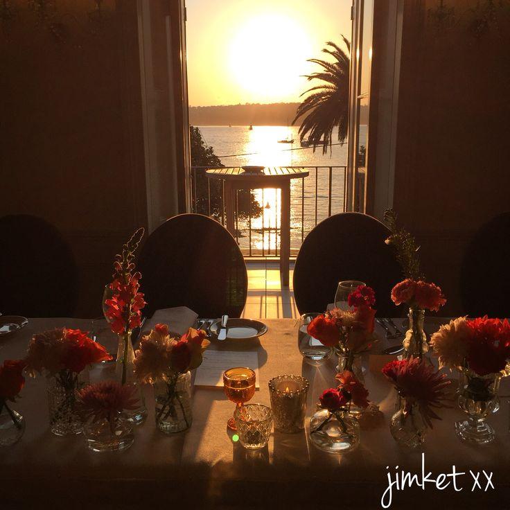 Bridal table florals wedding