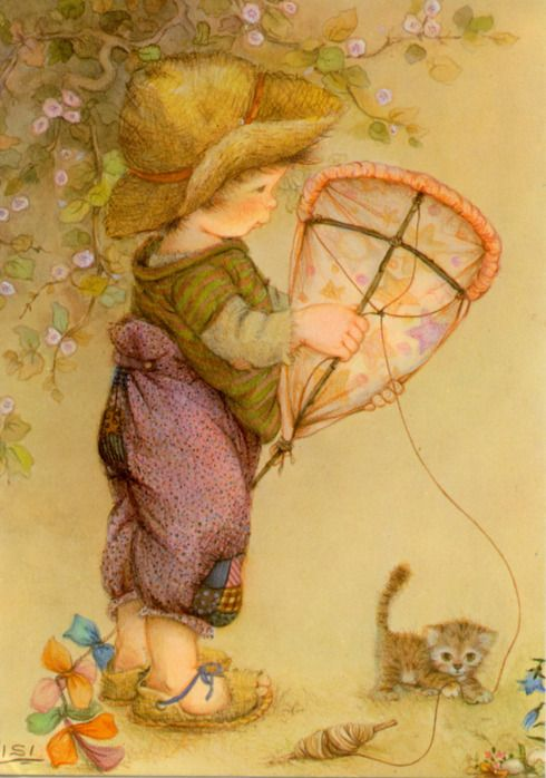 Boy with kite   Lisi Martin