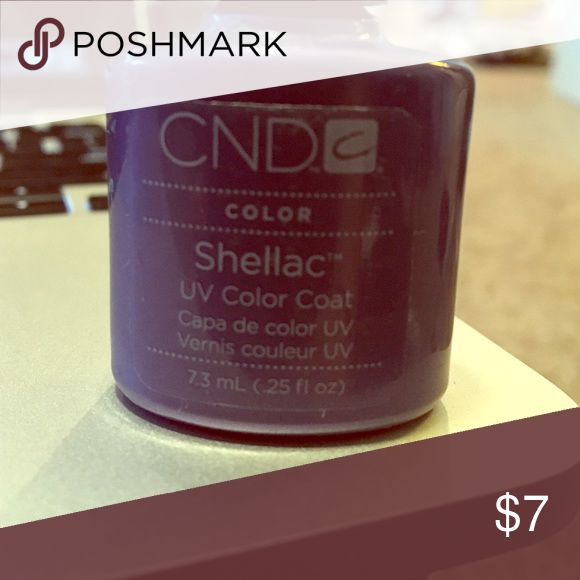 Purple shellac nail polish Purple shellac uv color coat, never used it! CND Other